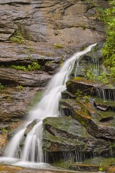 Waterfall In  Mountains Royalty Free Stock Photo