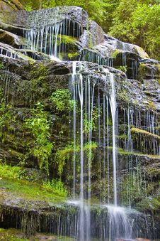 Free Waterfall In  Mountains Stock Photography - 6281042