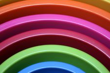 Plastic Bowls Royalty Free Stock Image