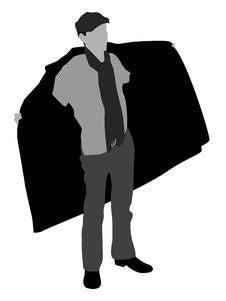 Free Man Showing Coat Stock Photo - 6281580