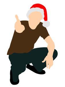 Free Man Wearing Santa Cap Stock Photos - 6281723