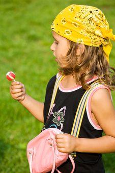 Fashion Little Girl Stock Photography