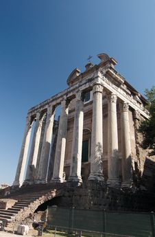 Free Roman Forum. Temple Of Antoninus And Faustina. Royalty Free Stock Photography - 6282147