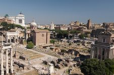 Free Roman Forum. General View Royalty Free Stock Images - 6282199