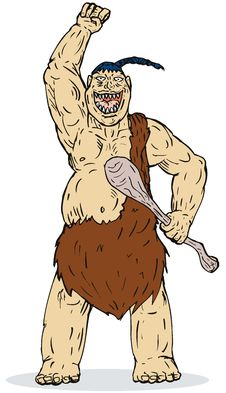 Free Caveman With Hands Raised Stock Images - 6282314