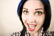 Free Wide Angle Portrait Of A Cute Rockabilly Girl Royalty Free Stock Images - 6282369