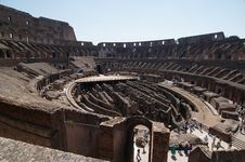 Free Interior Of The Colosseum, Arena Stock Image - 6282381