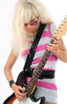 Free Girl With Guitar Stock Image - 6282501