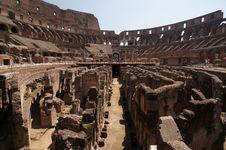Interior Of The Colosseum, Arena Stock Photo