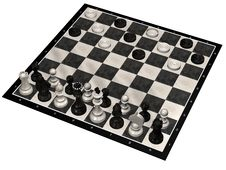 Free Unusual 3D Game Chess And Checkers Set Royalty Free Stock Photo - 6283405