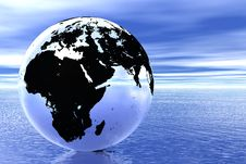 Free Globe In Ocean Royalty Free Stock Image - 6283976