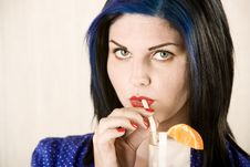 Free Pretty Woman Sipping A Cocktail Royalty Free Stock Images - 6283979