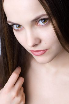 Free Beautiful Sad Brunette Stock Photos - 6284033