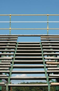 Empty Bleachers Blue Sky Stock Image