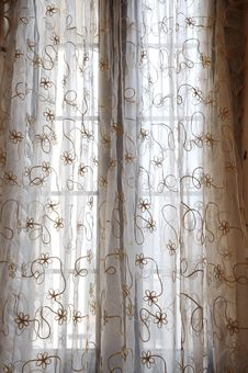 Free The Soft Voile Curtain Royalty Free Stock Image - 6284696