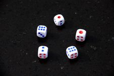 Free Five Dices With Dots Stock Photo - 6284810