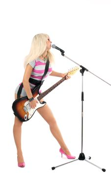 Free Girl With Guitar Stock Images - 6285884