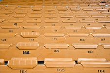 Free Rows Of Unused Stadium Seating Stock Image - 6286221