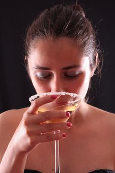Free Woman And Martini Glass Stock Photos - 6286313