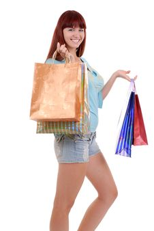 Free Shopping Sexy Woman Stock Image - 6286351