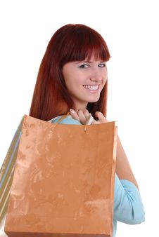 Shopping Sexy Woman Royalty Free Stock Photos