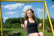 Free The Girl On A Seesaw Royalty Free Stock Images - 6286499