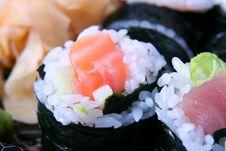 Free Appetizing Sushi Close-up Royalty Free Stock Photos - 6286638