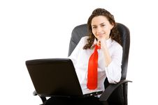 Free Businesswoman In Armchair Stock Image - 6287221