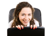 Free Happy Businesswoman In Armchair Stock Photos - 6287233