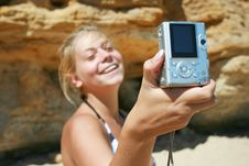 Free Girl With A Camera Royalty Free Stock Photo - 6287325