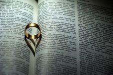 Ring On Bible Royalty Free Stock Photos