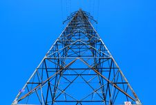 Steel Electricity Pylon Royalty Free Stock Images