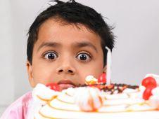 Free Asian Boy With Birthday Cake Royalty Free Stock Photo - 6288105