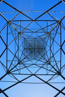 Steel Electricity Pylon Royalty Free Stock Image
