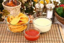 Free Salsa Nachos And Cheese Dip Stock Photo - 6288480