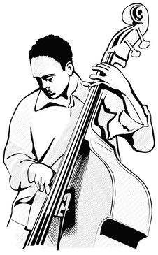Free Illustration Of A Bass Player Royalty Free Stock Image - 6289346