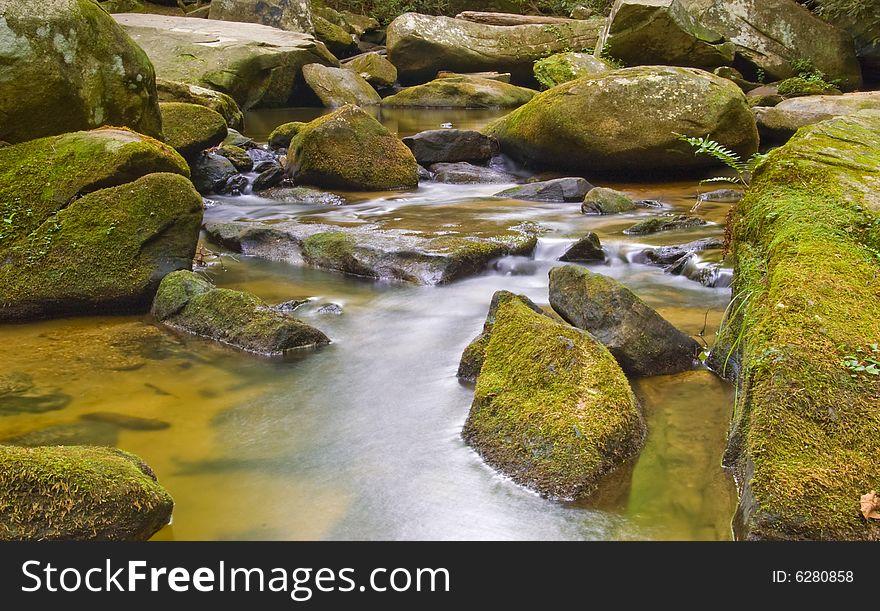 River in Appalachian mountains