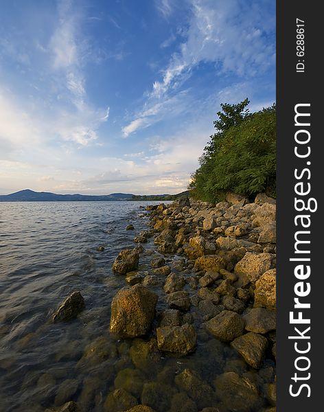 Stone and Lake