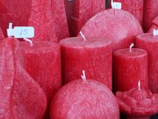 Free Red Decorative Candles Stock Images - 62805314