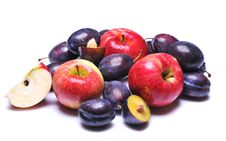 Free Plums And Apples Royalty Free Stock Photos - 6290238