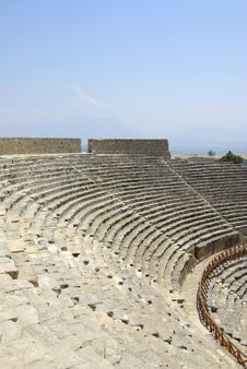 Free Amphitheater In Hierapolis. Pamukkale, Turkey. Stock Image - 6290391