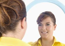 Free Girl Portrait In Mirror Royalty Free Stock Photography - 6290867