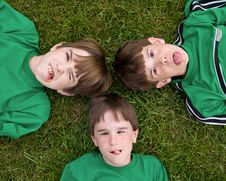 Free Boys Making Faces Stock Images - 6291154