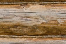 Free Closeup Of An Old Wooden Wall Made Of Logs Royalty Free Stock Photography - 6291497