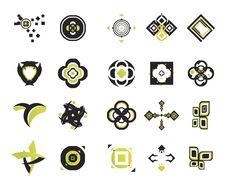Vector Icons - Elements 16 Stock Photo