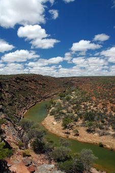 Desert River Royalty Free Stock Photography