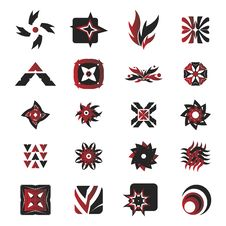 Vector Icons - Elements 27 Stock Photography