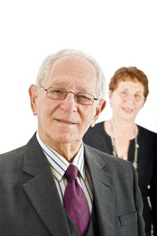 Free Senior Businessman With Colleague Stock Photography - 6292802