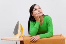 Free Ironing Woman Stock Photography - 6293452