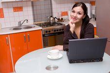 Free Woman In Kitchen Stock Photos - 6293513